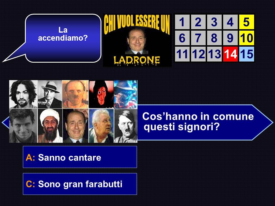 A: Sanno cantare B: Sono dei bravi ragazzi C: Sono gran farabuttiD: Sono tifosi del Milan E quella giusta.