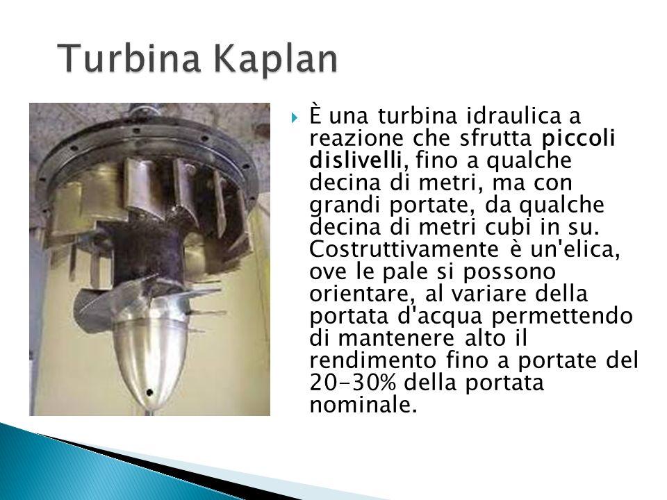 È una turbina idraulica a reazione che sfrutta piccoli dislivelli, fino a qualche decina di metri, ma con grandi portate, da qualche decina di metri c