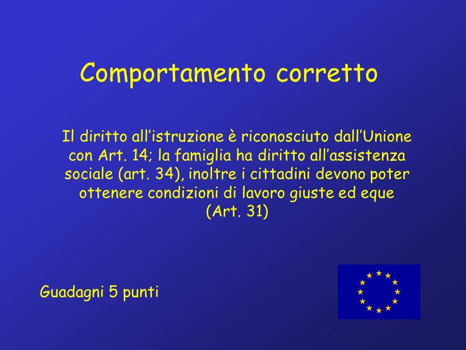 Il diritto allistruzione è riconosciuto dallUnione con Art.