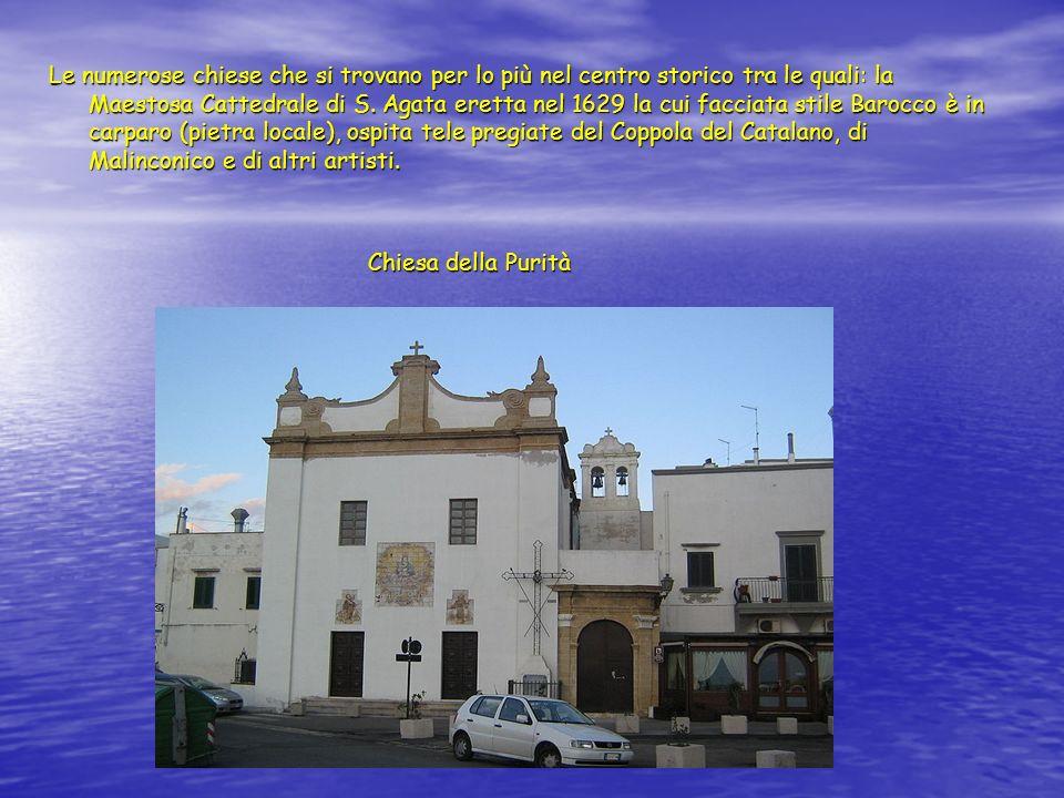 Le numerose chiese che si trovano per lo più nel centro storico tra le quali: la Maestosa Cattedrale di S.