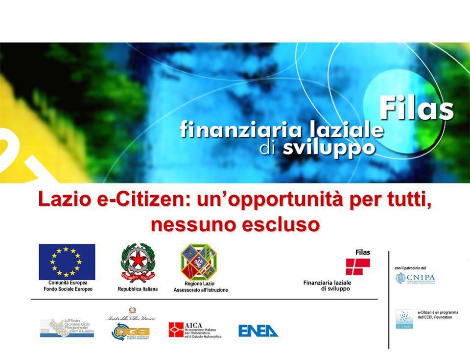 Lazio e-Citizen: unopportunità per tutti, nessuno escluso
