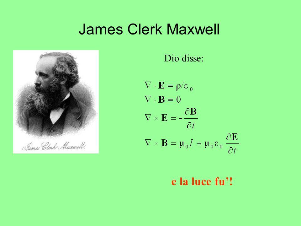 James Clerk Maxwell Dio disse: e la luce fu!