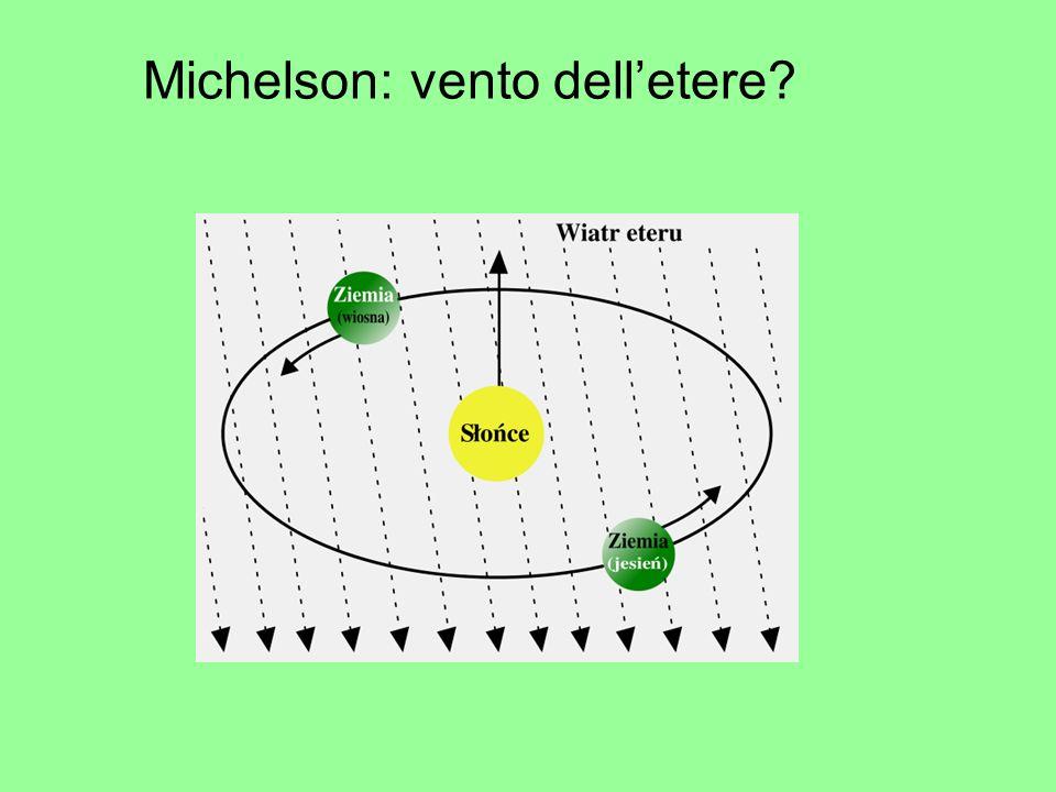 Michelson: vento delletere?
