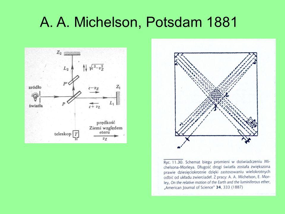 A. A. Michelson, Potsdam 1881