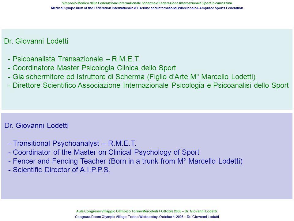 Associazione Internazionale Di Psicologia e Psicoanalisi dello Sport (www.aipps.it)www.aipps.it Membro W.C.P.