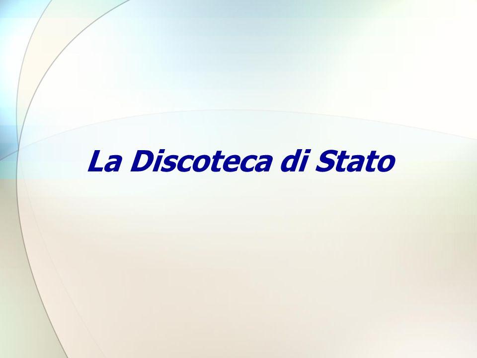 La Discoteca di Stato