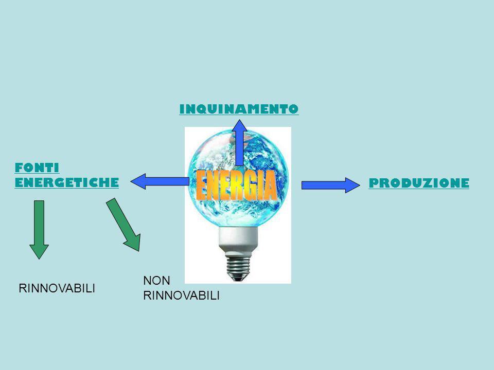 INQUINAMENTO FONTI ENERGETICHE PRODUZIONE RINNOVABILI NON RINNOVABILI