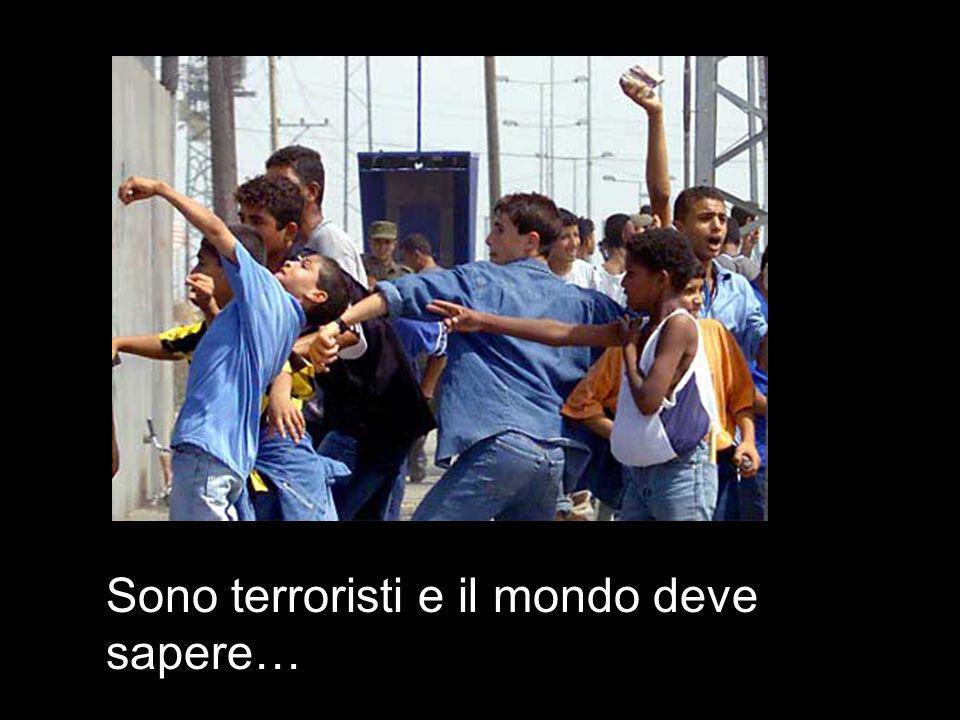 Sono terroristi e il mondo deve sapere…
