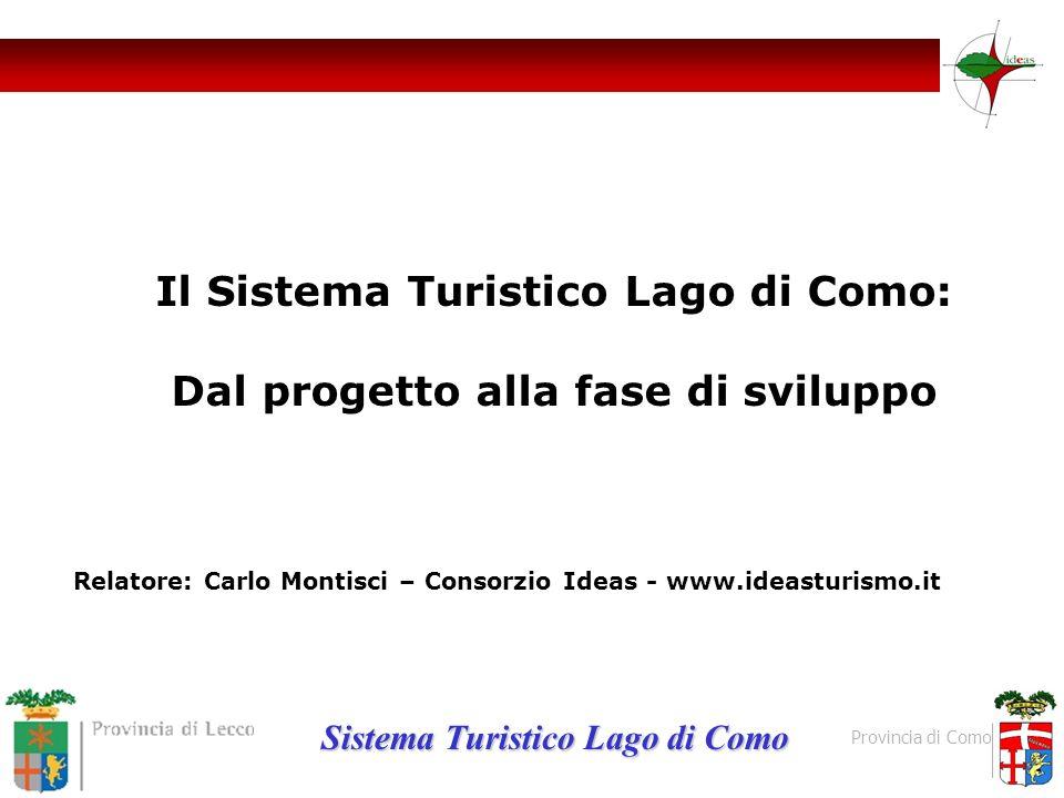Il Sistema Turistico Lago di Como: Dal progetto alla fase di sviluppo Relatore: Carlo Montisci – Consorzio Ideas - www.ideasturismo.it Sistema Turisti