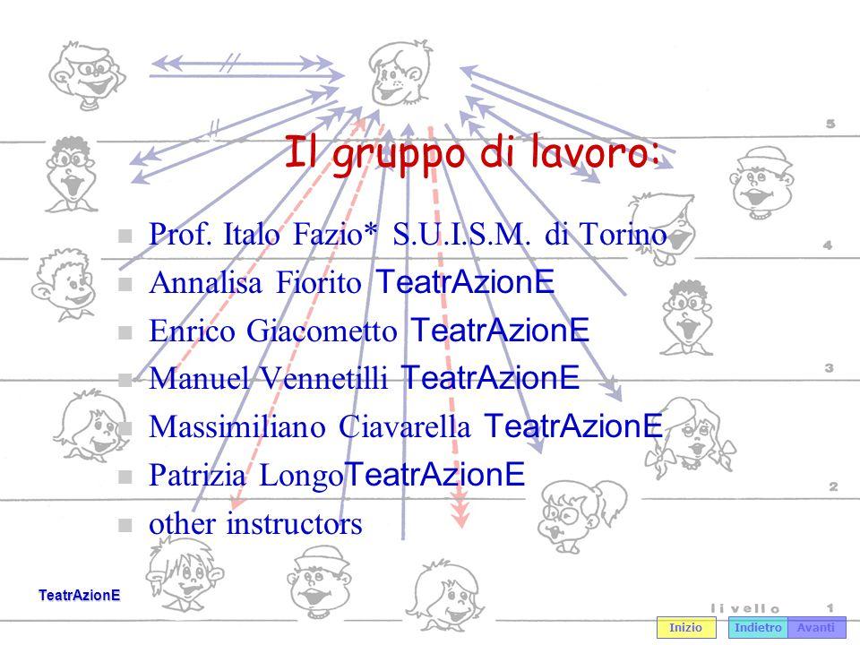 IndietroAvanti Inizio TeatrAzionE Prof.Italo Fazio n Docente S.U.I.S.M.