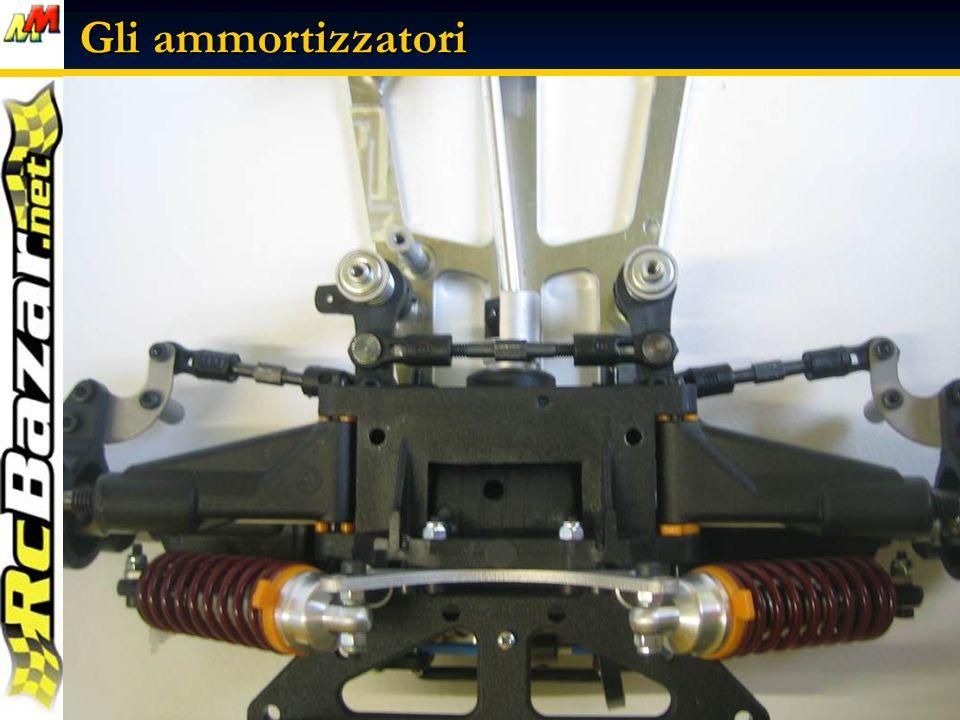 Gli ammortizzatori Alcune immagini degli ammortizzatori montati sul modello ….