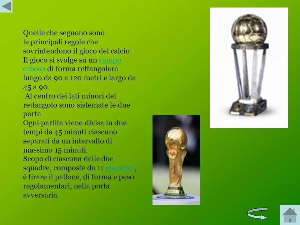 Le regole base del calcio riguardano: Il terreno di gioco Il pallone Il numero dei giocatori L'equipaggiamento dei calciatori L'arbitroarbitro Gli ass