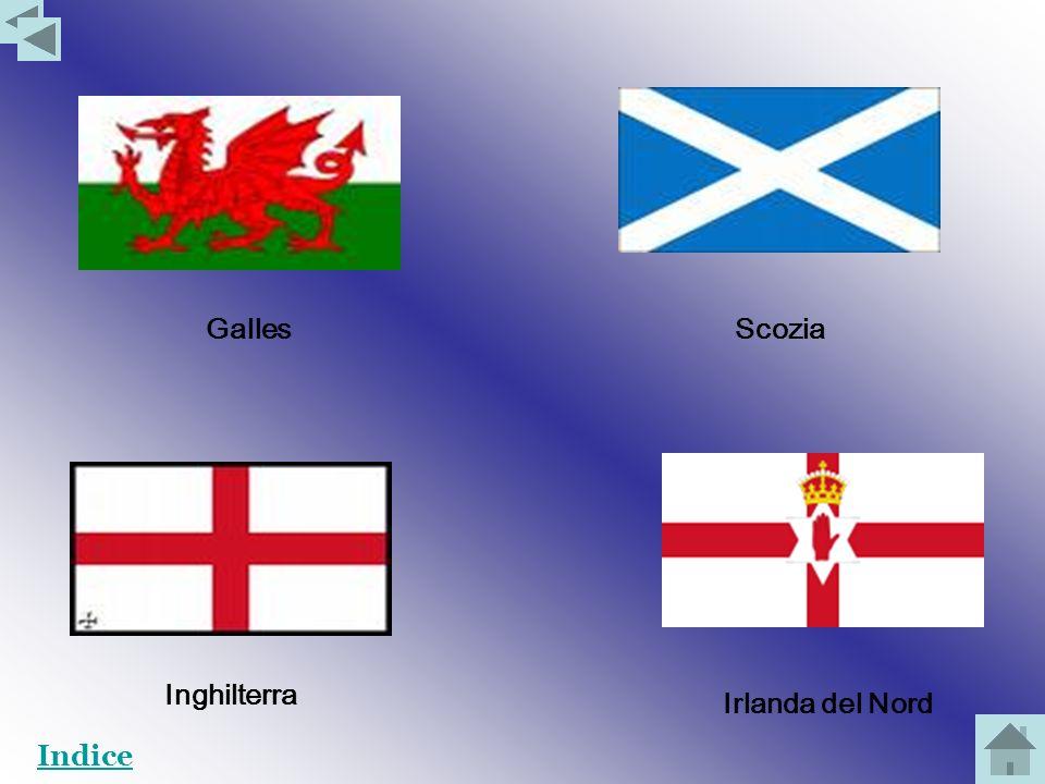 Il Regno Unito si sviluppa sullintera isola della Gran Bretagna e su un sesto dellisola dIrlanda. E diviso in quattro regioni: il Galles, la Scozia, l