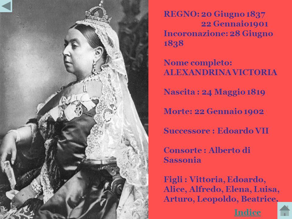 Vittoria è stata Sovrana ed Imperatrice britannica dal 20 giugno 1837 fino alla sua morte. Il suo regno durò più di sessantatrè anni. Fu la prima a fr