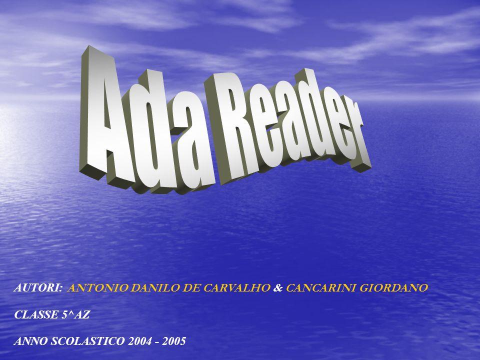 AUTORI: A NTONIO DANILO DE CARVALHO & CANCARINI GIORDANO CLASSE 5^AZ ANNO SCOLASTICO 2004 - 2005