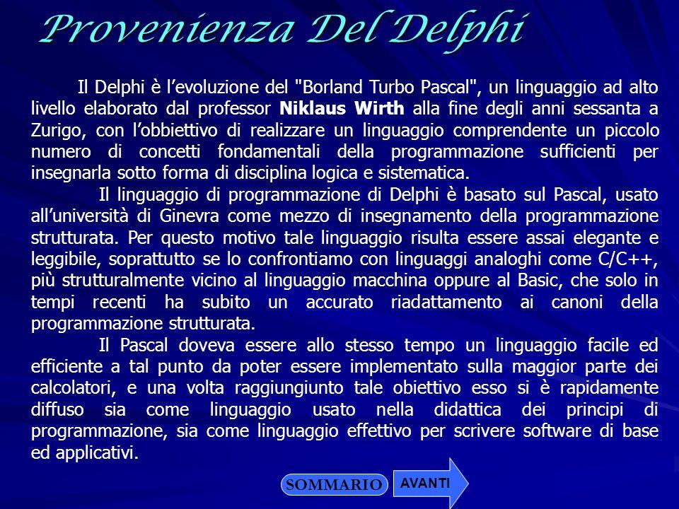 Il Delphi è levoluzione del