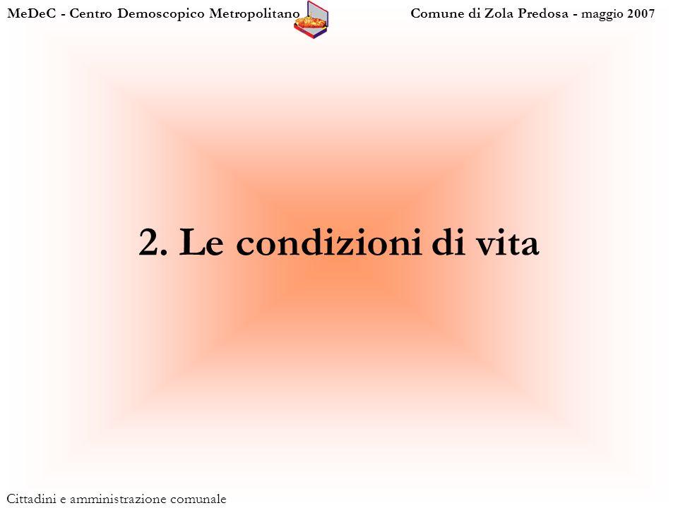MeDeC - Centro Demoscopico Metropolitano Comune di Zola Predosa - maggio 2007 Cittadini e amministrazione comunale 2.