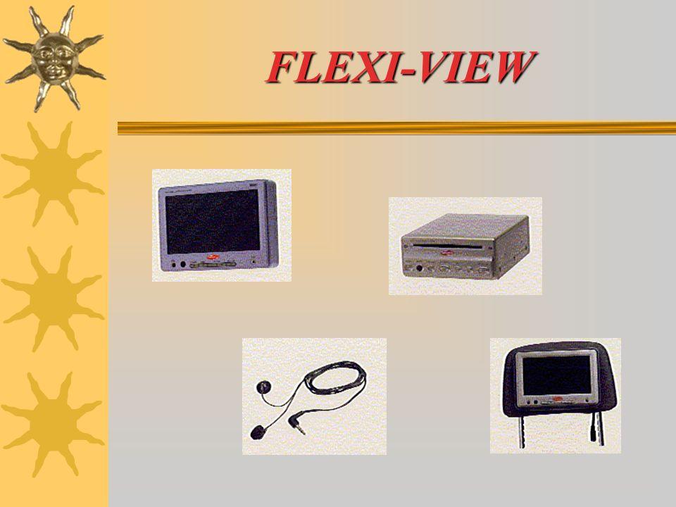 Con FLEXI-VIEW, i passeggeri possono trascorrere il tempo: GUARDANDO UN FILM GUARDANDO LA TELEVISIONE ( se provvisto di sintonizzatore e antenna TV ) GIOCARE AI VIDEOGIOCHI ASCOLTARE I CD E I CD MP3