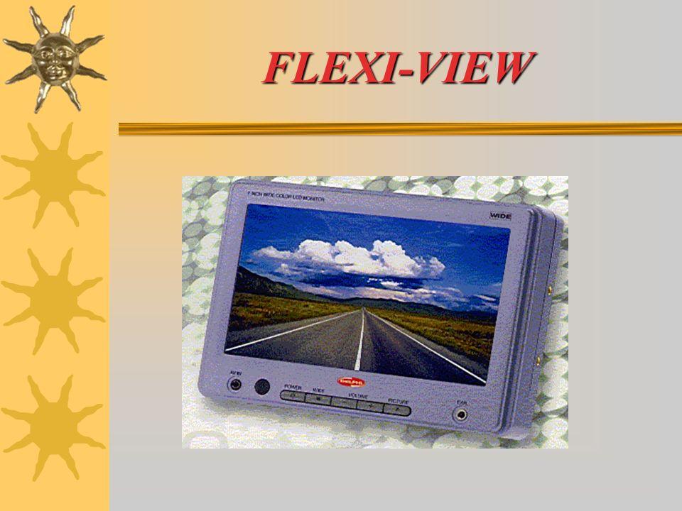 FLEXI-VIEW Tutte le informazioni e regolazioni, controlli on/off, colore, luminosità, volume, visualizzazione ampia/normale, sono a portata di mano, direttamente sullo schermo.