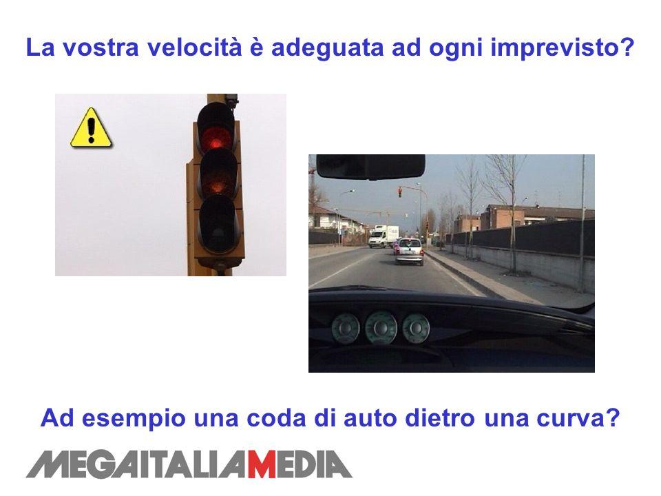 La vostra velocità è adeguata ad ogni imprevisto? Ad esempio una coda di auto dietro una curva?
