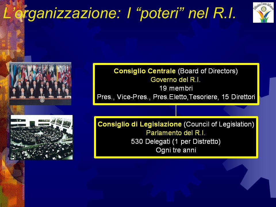 Lorganizzazione: I poteri nel R.I.