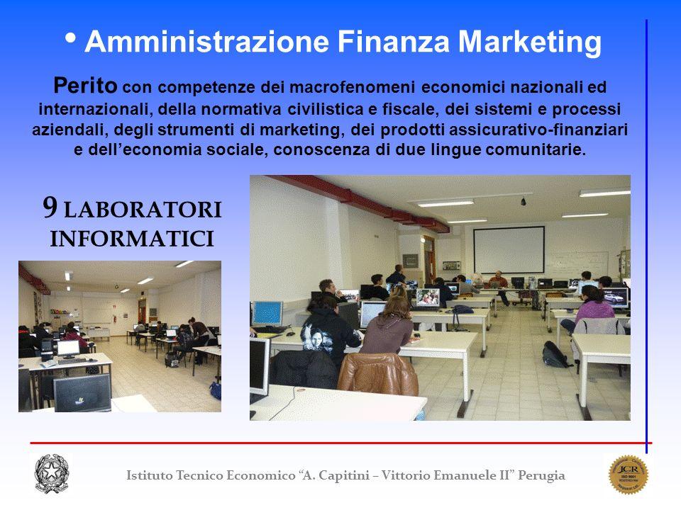 Istituto Tecnico Economico A. Capitini – Vittorio Emanuele II Perugia Amministrazione Finanza Marketing Perito con competenze dei macrofenomeni econom