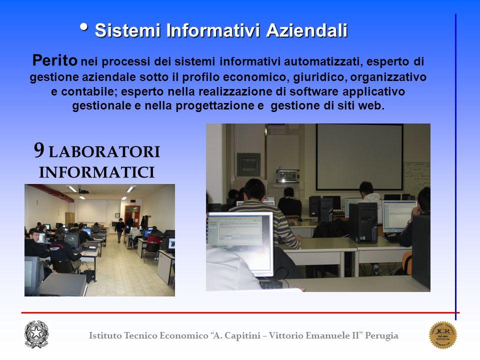 Istituto Tecnico Economico A. Capitini – Vittorio Emanuele II Perugia Sistemi Informativi Aziendali Sistemi Informativi Aziendali Perito nei processi
