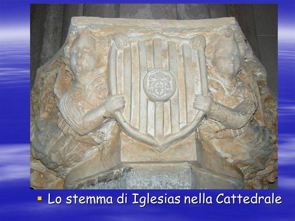 Lo stemma di Iglesias nella Cattedrale Lo stemma di Iglesias nella Cattedrale