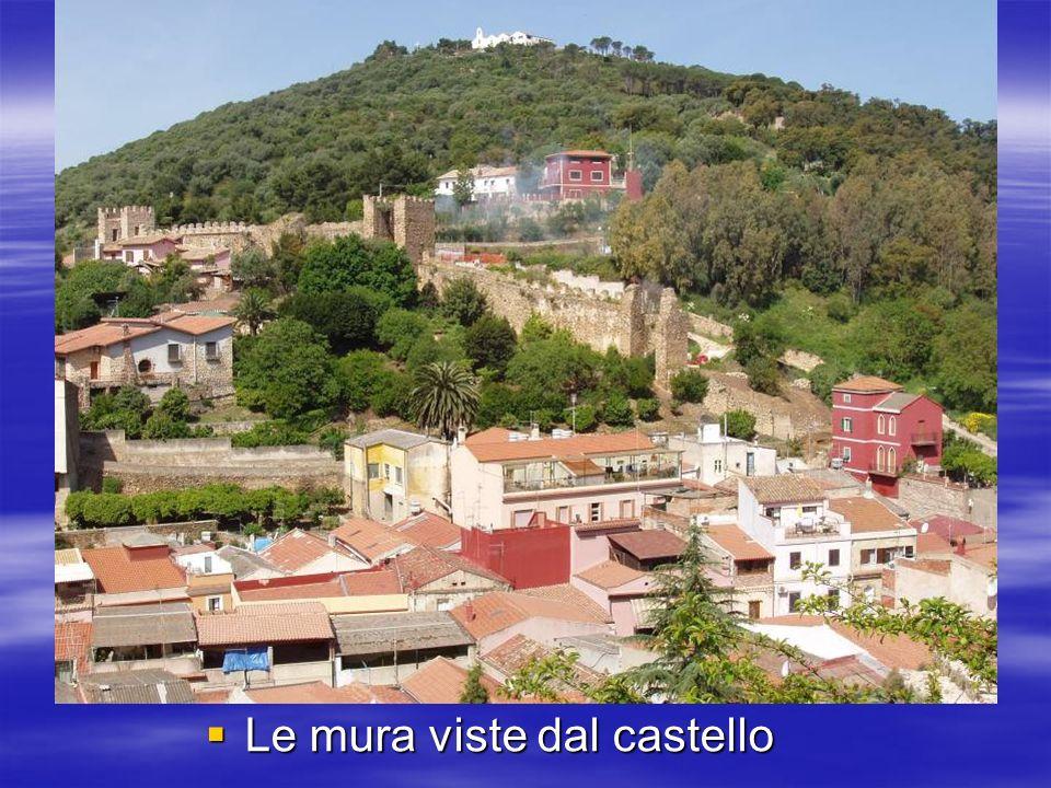 Le mura viste dal castello Le mura viste dal castello
