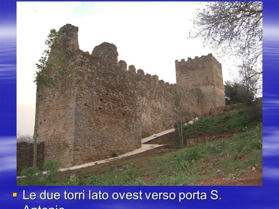 Le due torri lato ovest verso porta S. Antonio Le due torri lato ovest verso porta S. Antonio