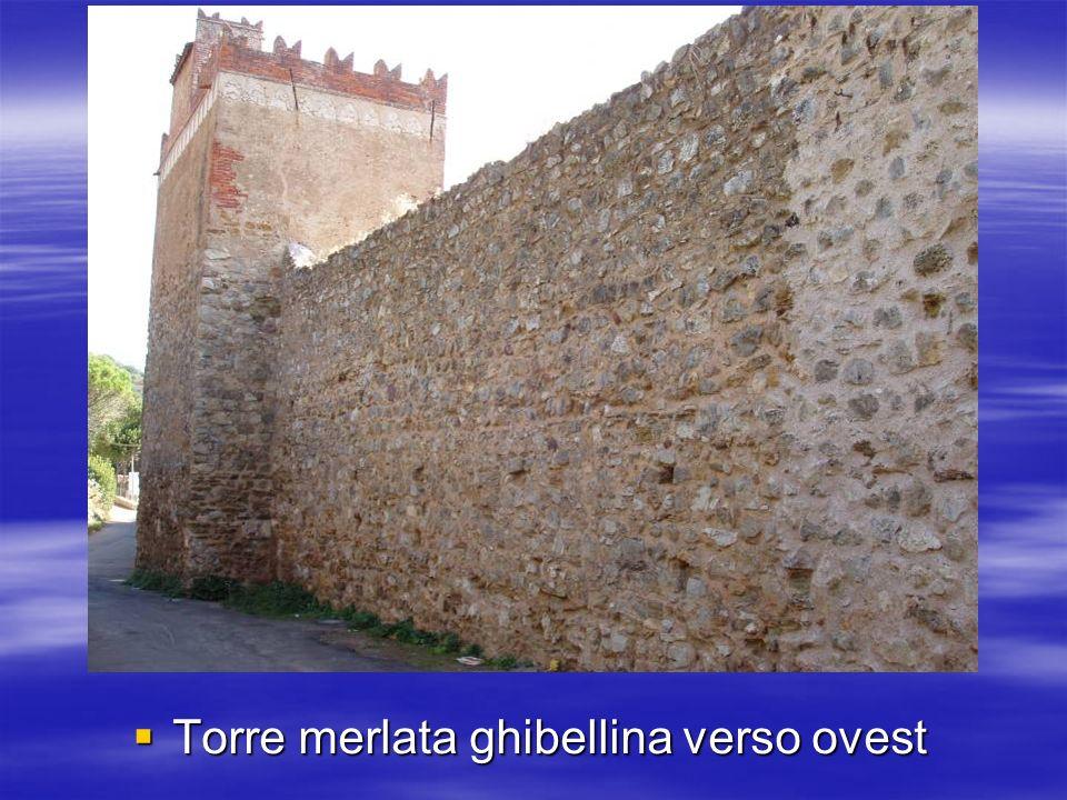 Torre merlata ghibellina verso ovest Torre merlata ghibellina verso ovest