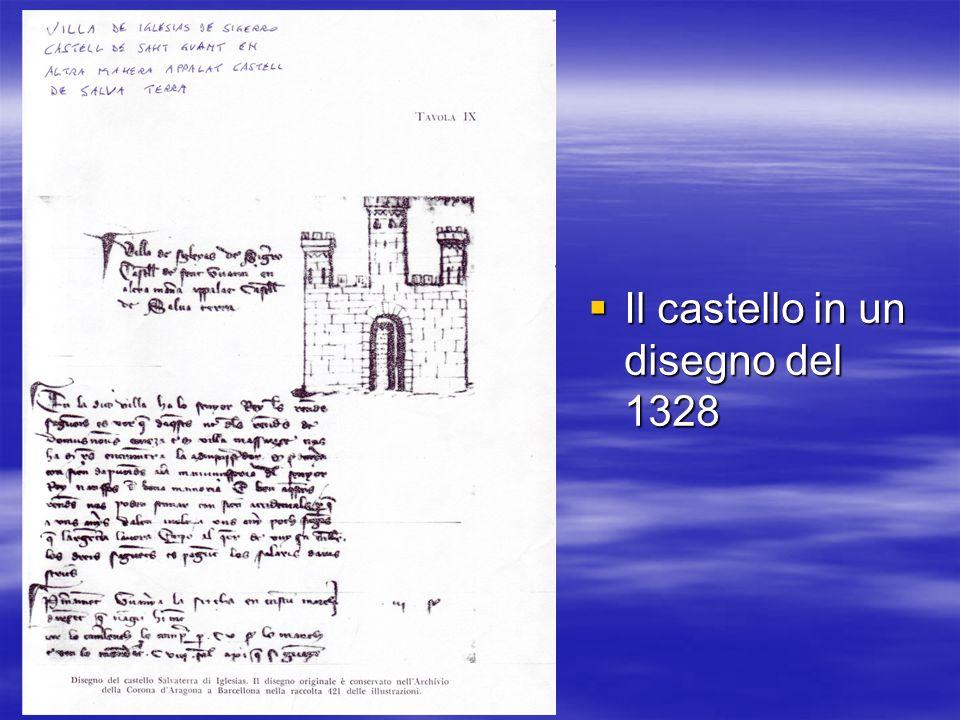 Il castello in un disegno del 1328 Il castello in un disegno del 1328