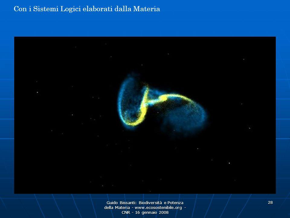 Guido Bissanti: Biodiversità e Potenza della Materia - www.ecosostenibile.org - CNR - 16 gennaio 2008 28 Con i Sistemi Logici elaborati dalla Materia