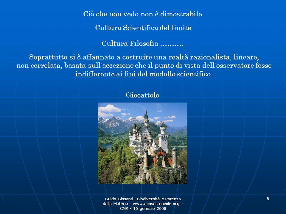 Guido Bissanti: Biodiversità e Potenza della Materia - www.ecosostenibile.org - CNR - 16 gennaio 2008 29 Modificando ogni precedente Equilibrio e Conoscenza