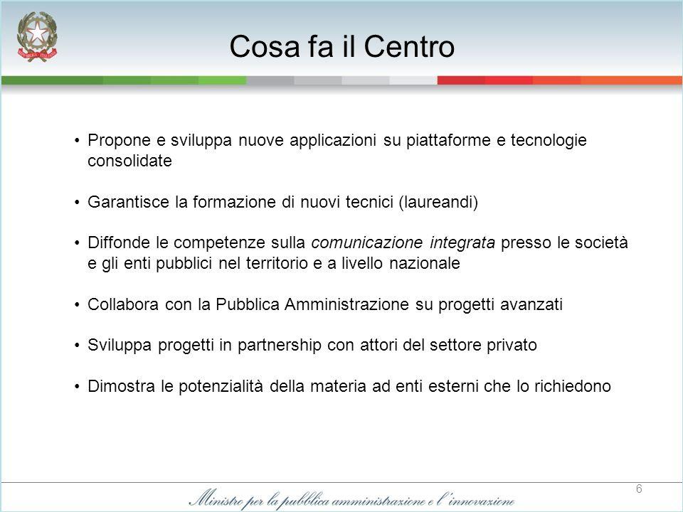 7 Il Dipartimento di Informatica e Automazione (DIA) dell Università Roma Tre offre opportunità di sviluppo scientifico del Centro, in risposta allesigenza di diffusione e promozione delle tecnologie avanzate di comunicazione.