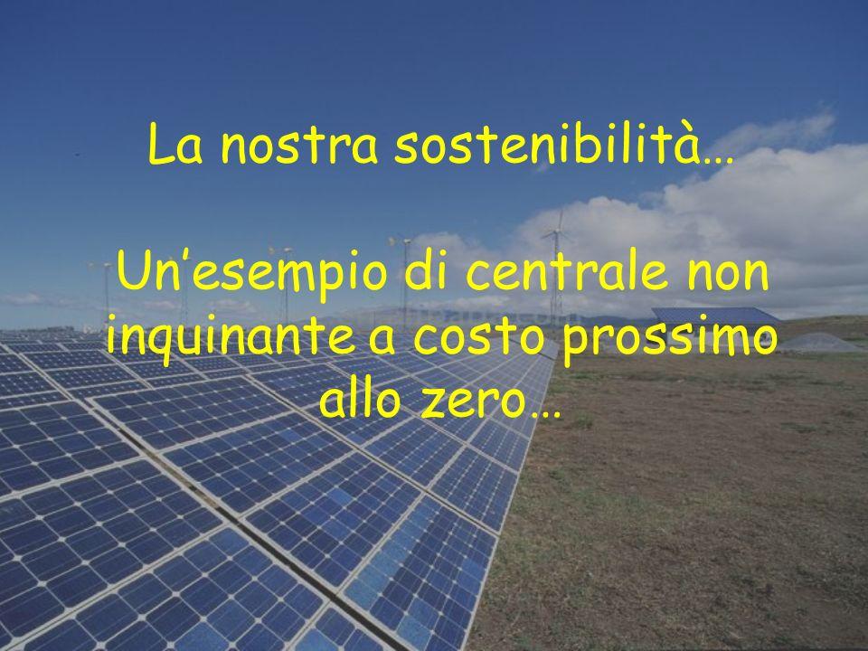 La nostra sostenibilità… Unesempio di centrale non inquinante a costo prossimo allo zero…