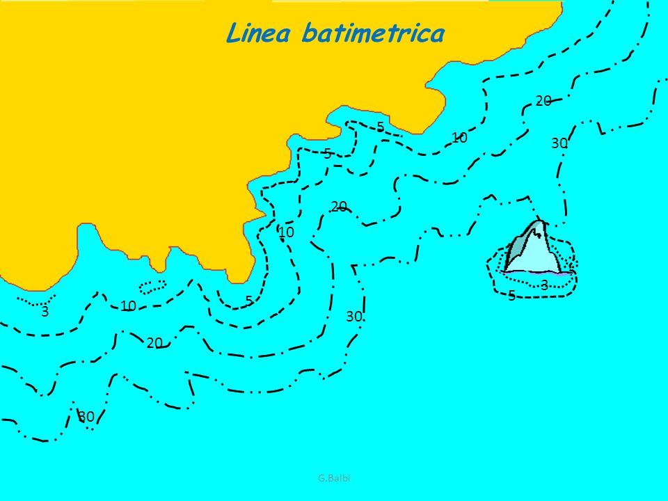 Linea batimetrica 10 5 5 5 20 10 30 3 3 5 G.Balbi