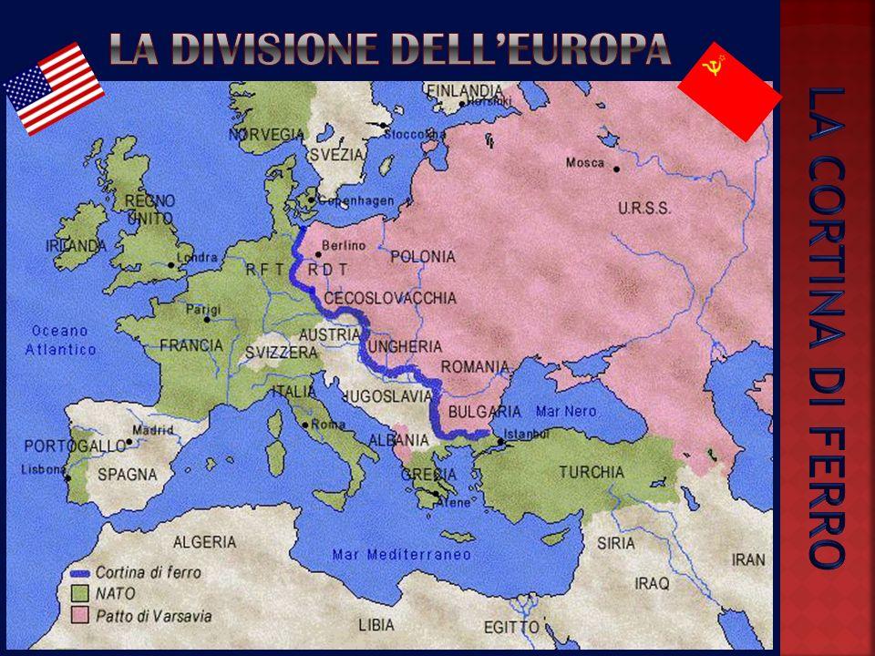 Dopo la Seconda guerra mondiale il mondo si trova diviso in due blocchi contrapposti: USA e URSS. Inizia la cosiddetta guerra fredda: uno scontro duri