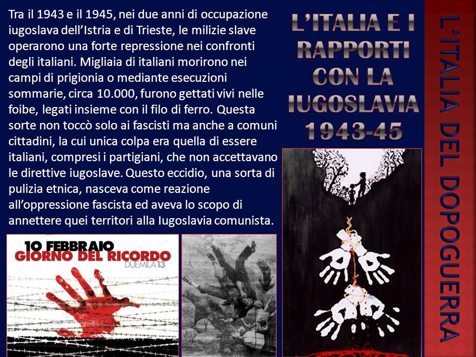 LItalia si era arresa agli Anglo-Americani il 3 settembre 1943, in seguito aveva combattuto i tedeschi con reparti militari e formazioni partigiane, p
