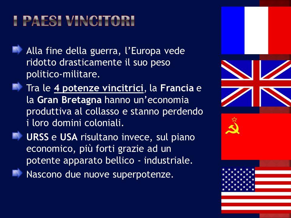 LItalia si era arresa agli Anglo-Americani il 3 settembre 1943, in seguito aveva combattuto i tedeschi con reparti militari e formazioni partigiane, perciò non ebbe un trattato di pace molto severo.