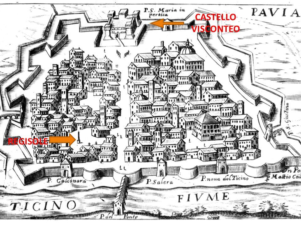 Epoca comunale Epoca rinascimentale Visconti Duomo Dipinto di Lanzani Naviglio Castello Visconteo Pavia tra il 1200 e il 1400 Broletto San Teodoro