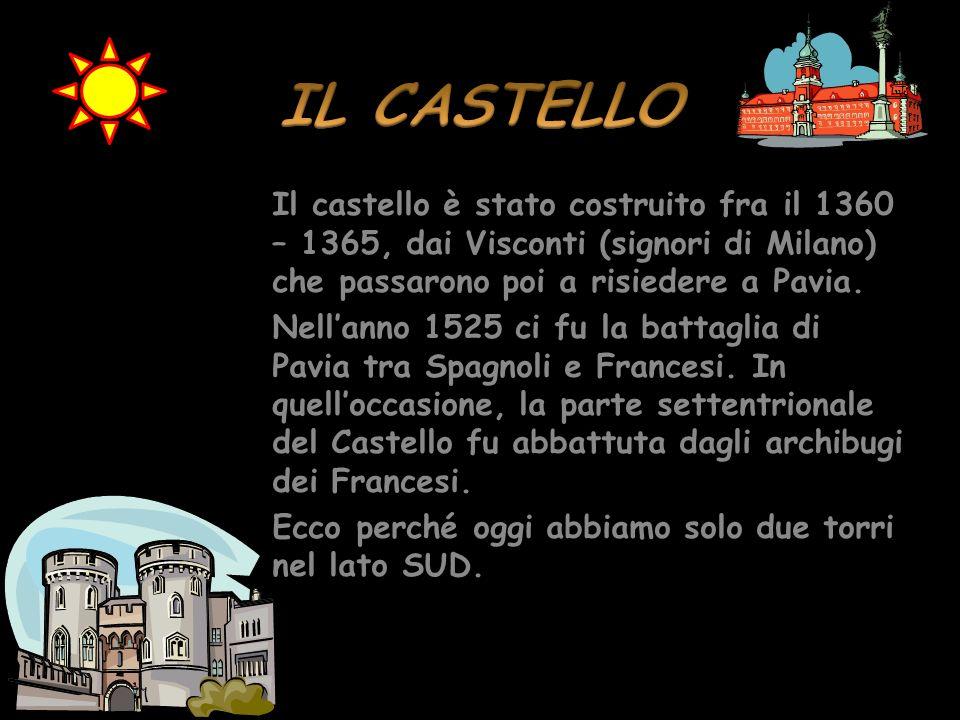 Pavia Pavia diventa possedimento dei Visconti nel 1359 e in seguito loro residenza. I Visconti realizzarono molti monumenti a Pavia, come luniversità,