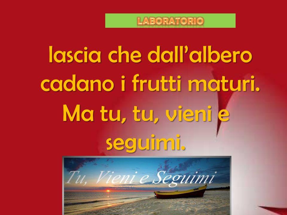 Lascia che la barca in mare spieghi la vela, lascia che trovi affetto chi segue il cuore,