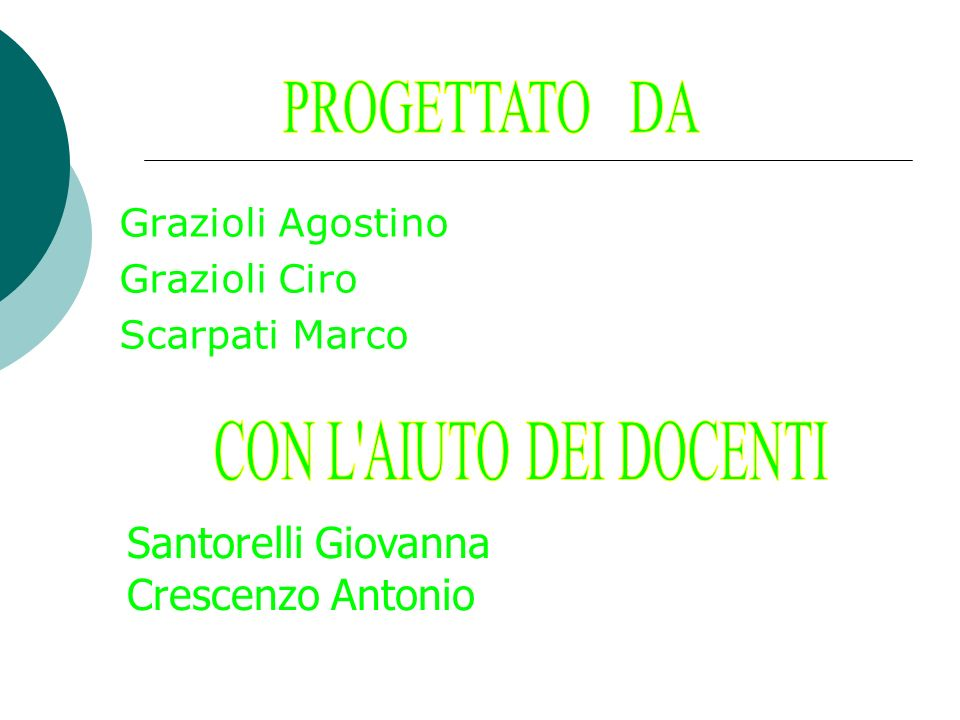 Grazioli Agostino Grazioli Ciro Scarpati Marco Santorelli Giovanna Crescenzo Antonio