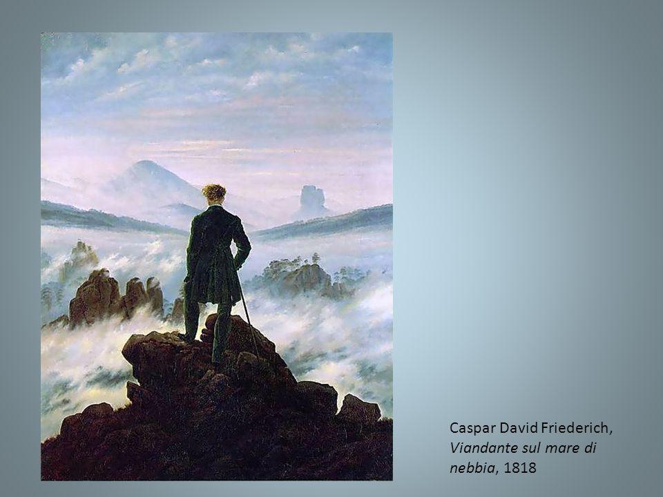 Caspar David Friederich, Viandante sul mare di nebbia, 1818