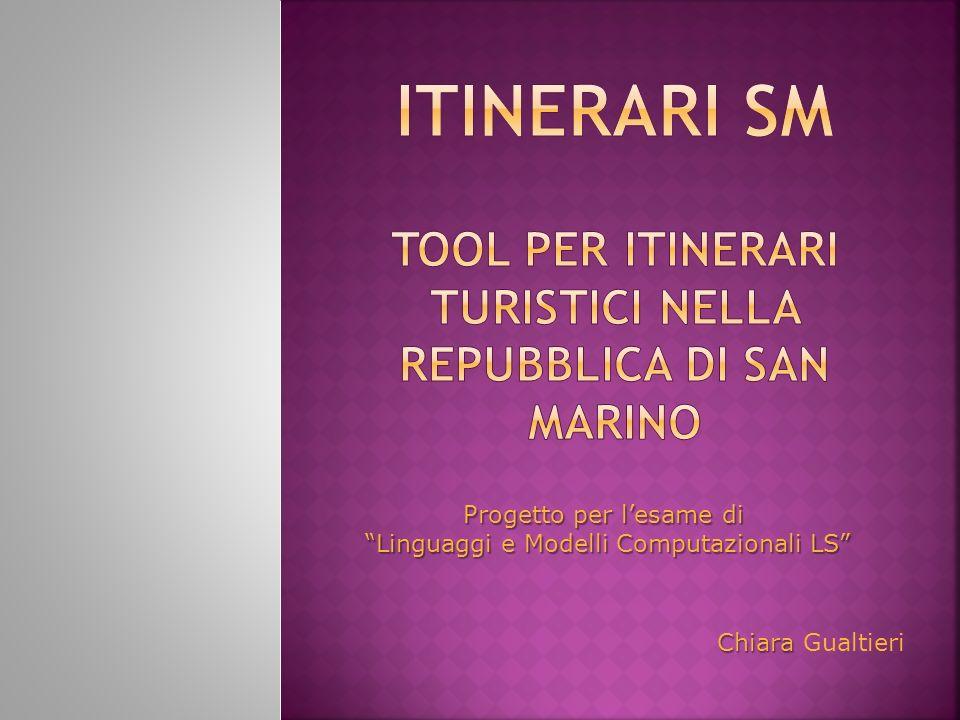 Progetto per lesame di Linguaggi e Modelli Computazionali LS Chiara Chiara Gualtieri