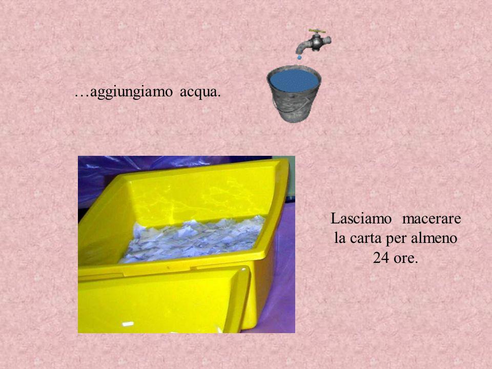 FASE 2 Con un frullatore a immersione, frulliamo la carta …