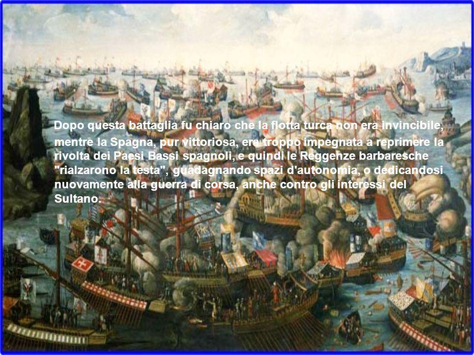 Dopo questa battaglia fu chiaro che la flotta turca non era invincibile, mentre la Spagna, pur vittoriosa, era troppo impegnata a reprimere la rivolta