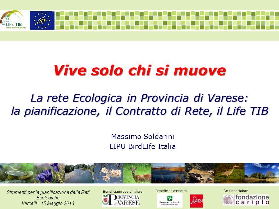 Beneficiario coordinatore Beneficiari associatiCo-finanziatore Strumenti per la pianificazione delle Reti Ecologiche Vercelli - 15 Maggio 2013 Vive so