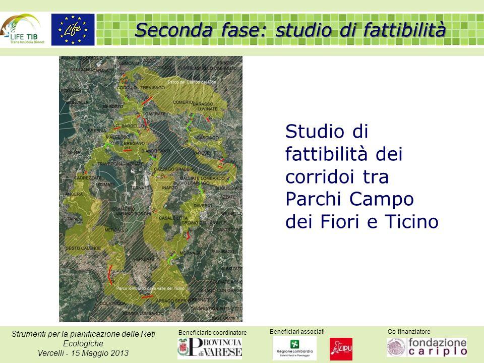 Beneficiario coordinatore Beneficiari associatiCo-finanziatore Strumenti per la pianificazione delle Reti Ecologiche Vercelli - 15 Maggio 2013 Studio